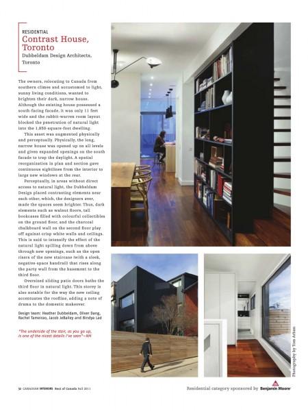 Dubbeldam architecture design recognition press for Dubbeldam architecture and design s contrast house